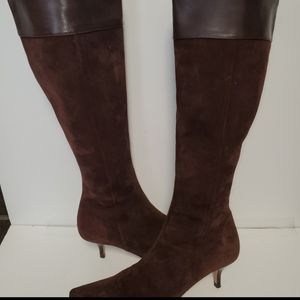 Banana Republic suede knee high boots